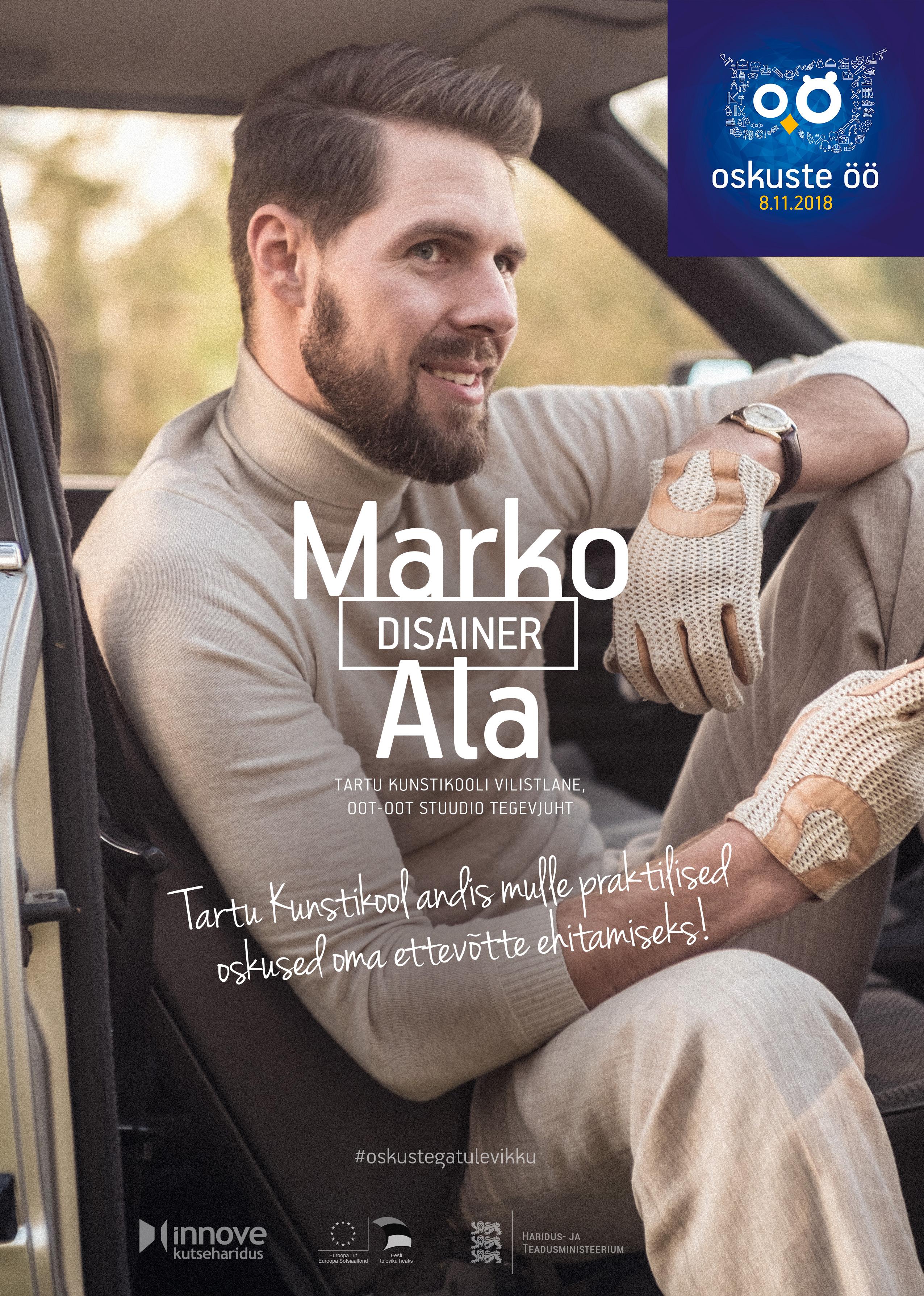 Disainer Marko Ala on Eesti saadik üle-euroopalisel kutseoskuste nädalal